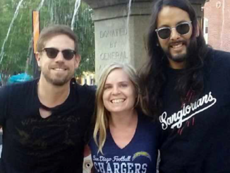 Kate with Mikel Jollett and Adrian Rodriguez of The Airborne Toxic Event