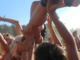 Anna Bulbrook crowdsurfs at Firefly Music Festival