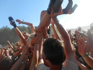 Catching Anna Crowd Surfing at Firefly Music Fest in Delaware Summer 2013