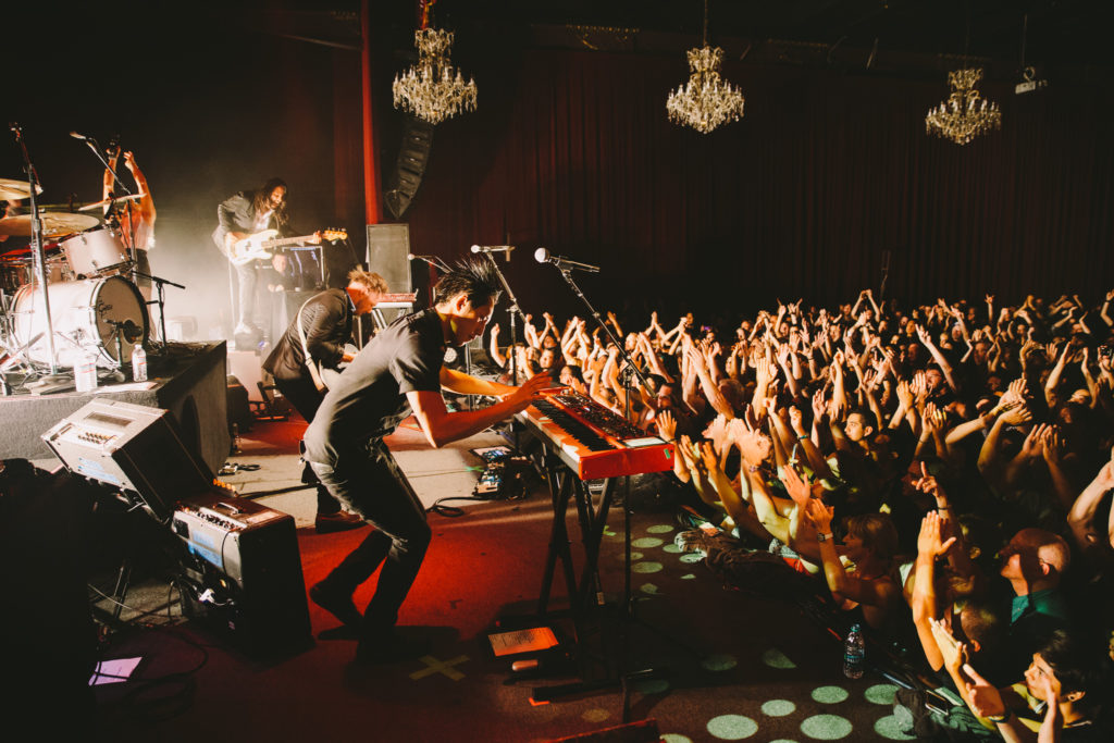 The Airborne Toxic Event in full flight. Photo by Ryan Tuttle (2014).
